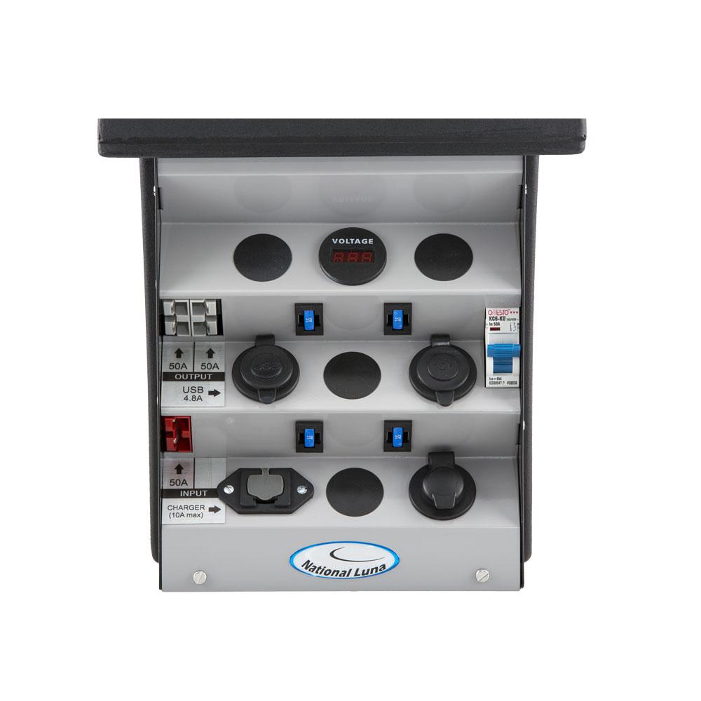 12v Auxiliary Battery Box Portable Management National Luna 12 Volt Fuse Enclosed