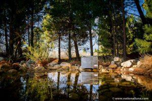 camping fridge in the bush