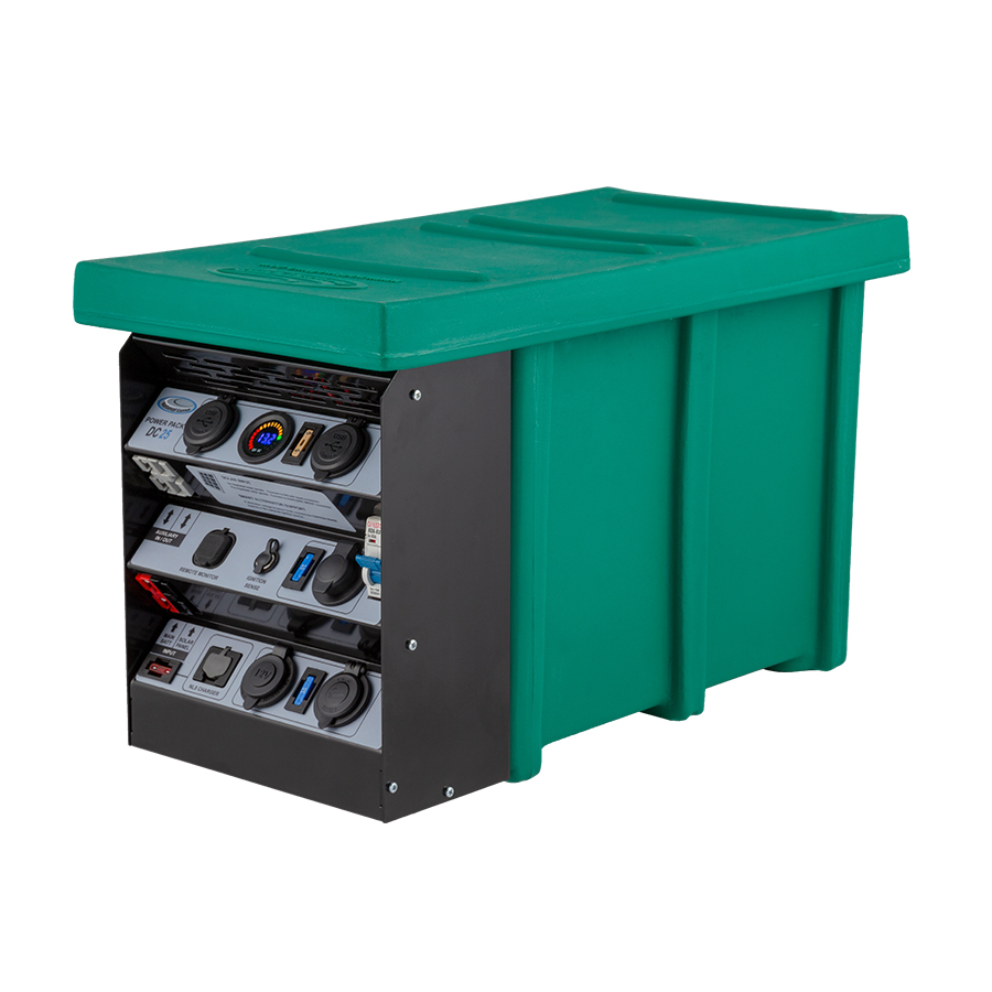 A portable battery box and mobile dual battery system green box
